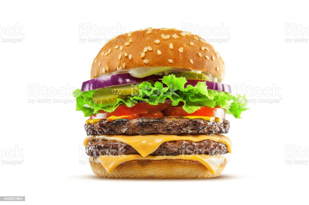 Double Cheese Burger stock photo