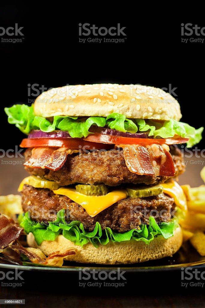 Double Cheeseburger stock photo