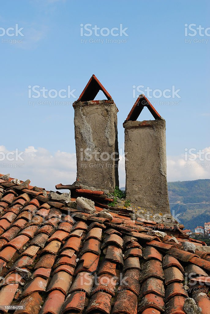 double chimneys stok fotoğrafı