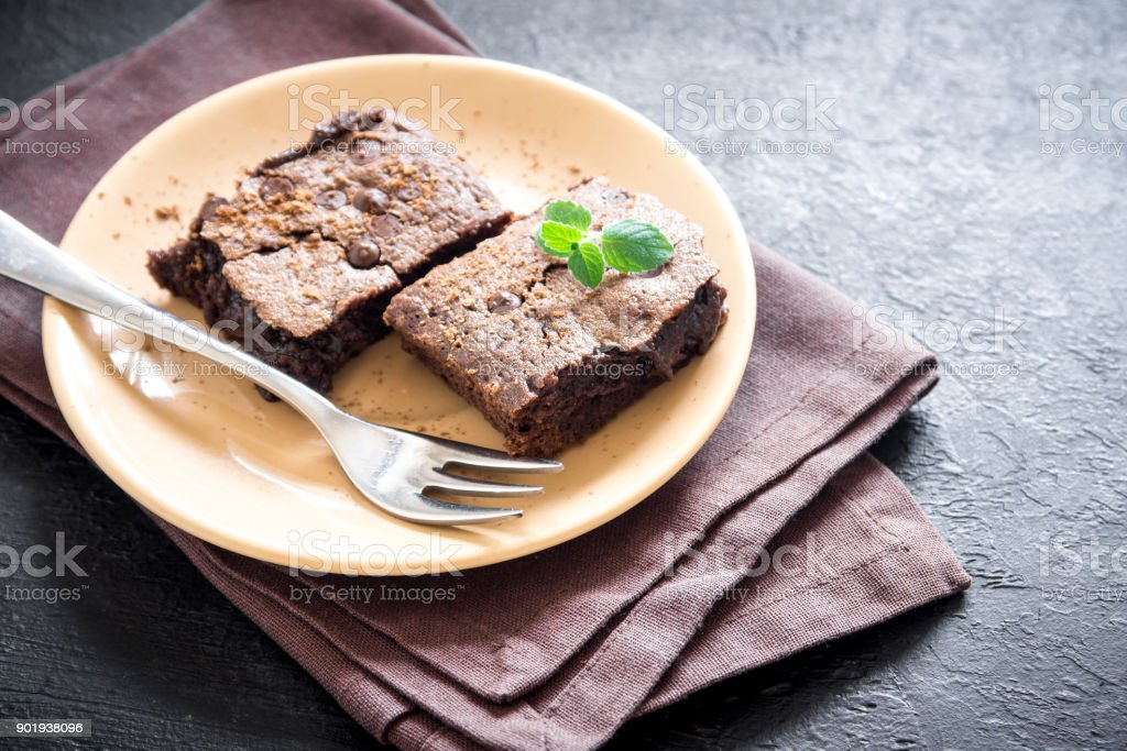 Double Chocolate Brownies stock photo