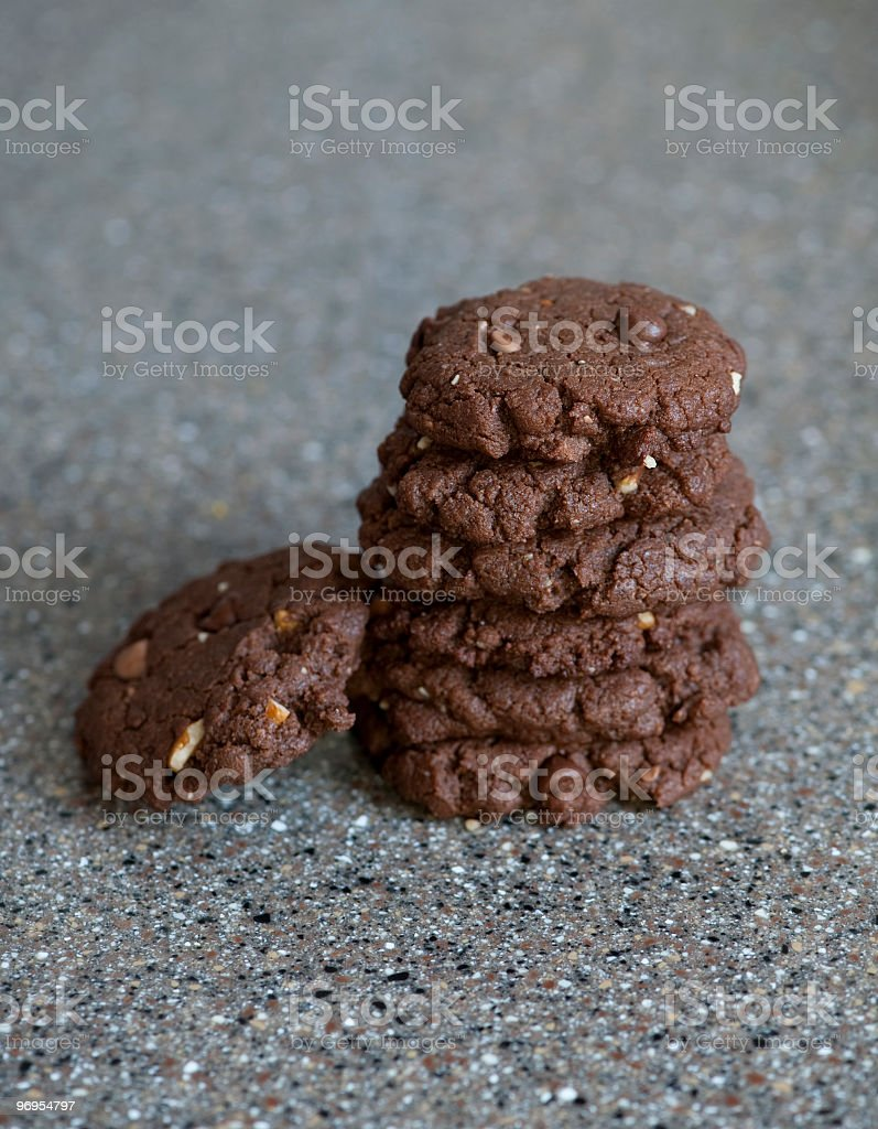 Double chocolate chip cookies royalty-free stock photo
