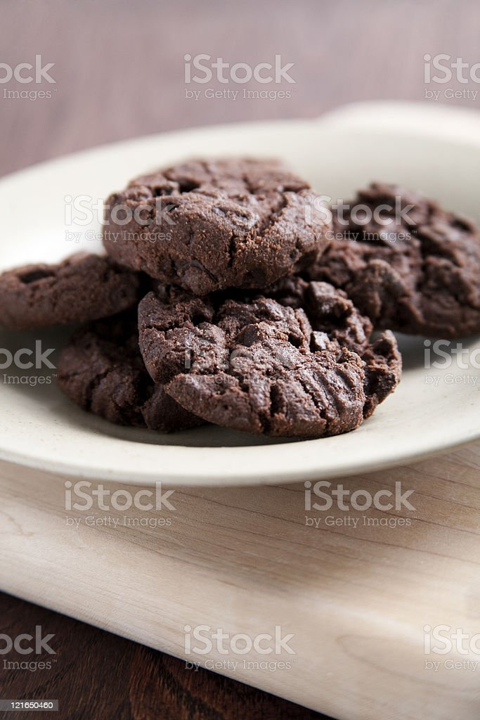 Double chocolate cookies royalty-free stock photo