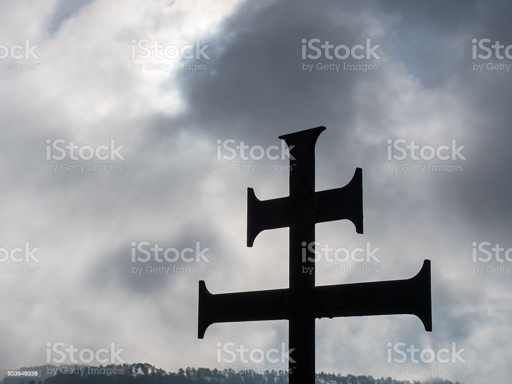 Double cross stock photo