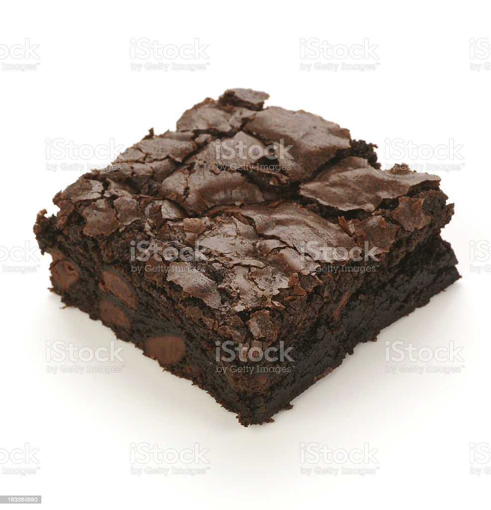 Chocolate negro Brownie con camas dobles - foto de stock