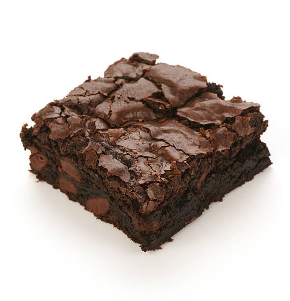 Doppio Brownie al cioccolato scuro - foto stock
