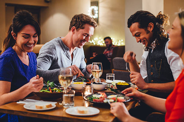 Double Date Dining - foto stock