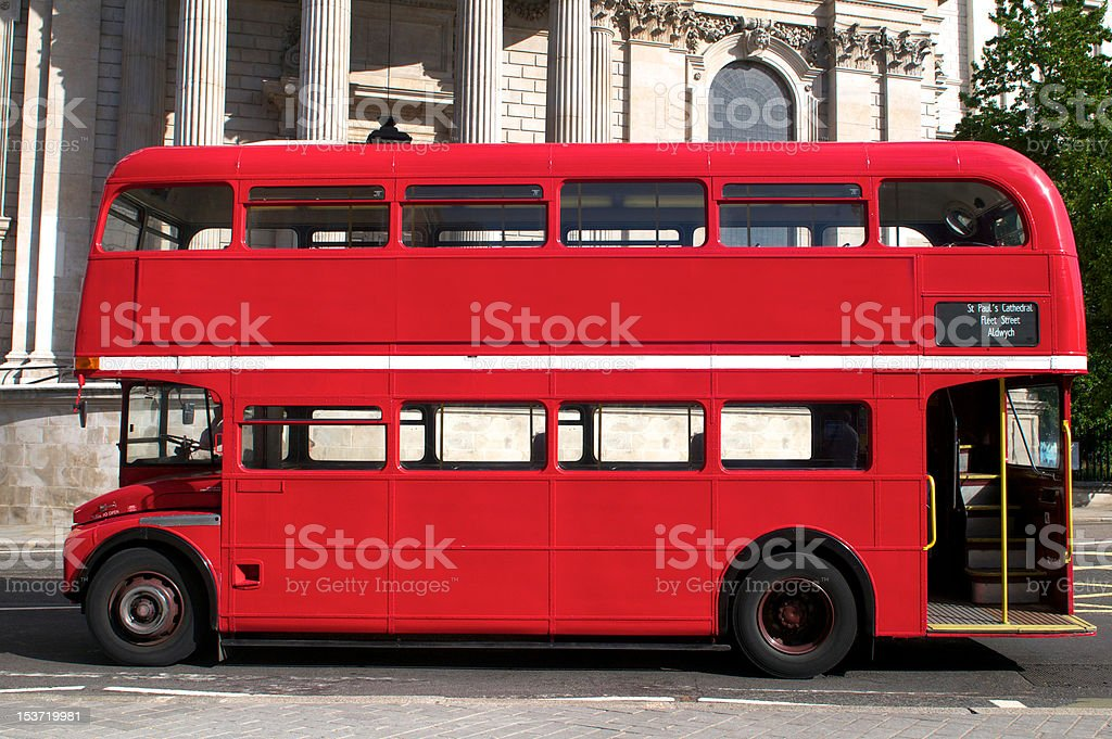 Double Decker bus in London royalty-free stock photo