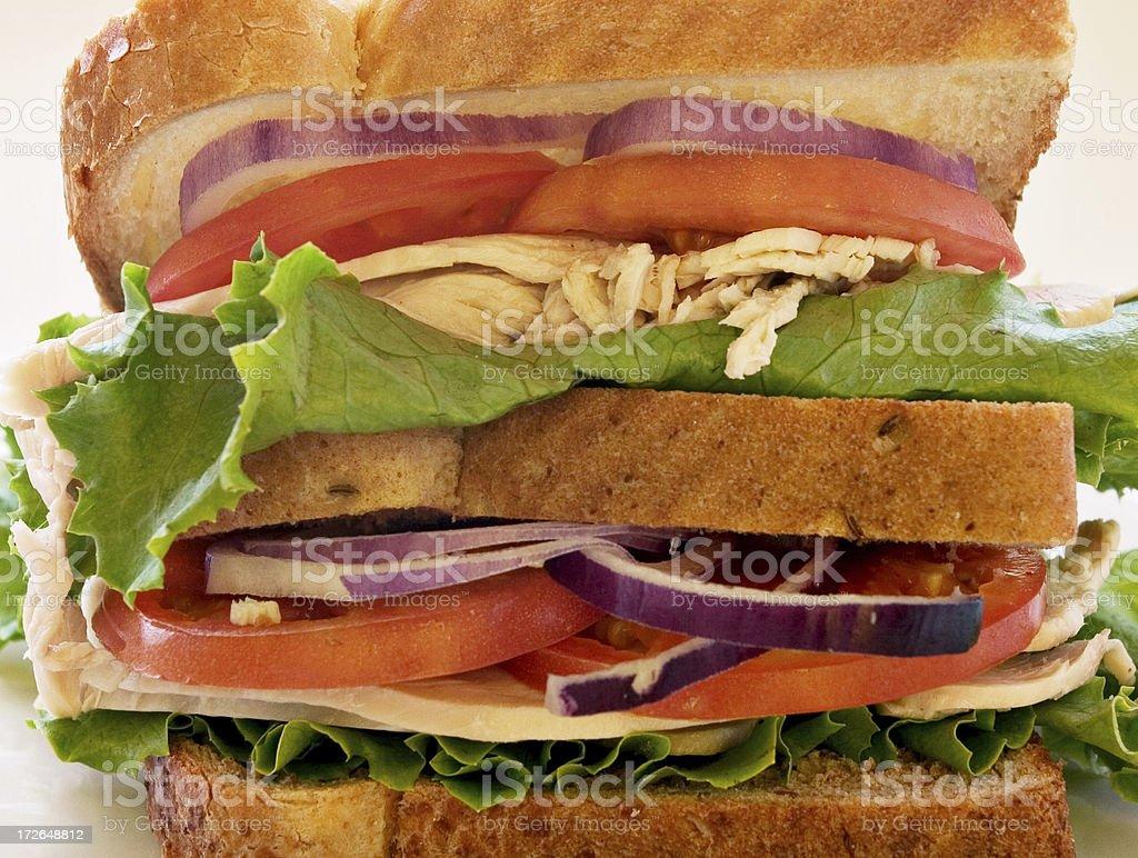 Double Decker Sandwich royalty-free stock photo