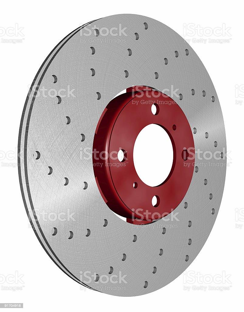 double disc brake rotor royalty-free stock photo