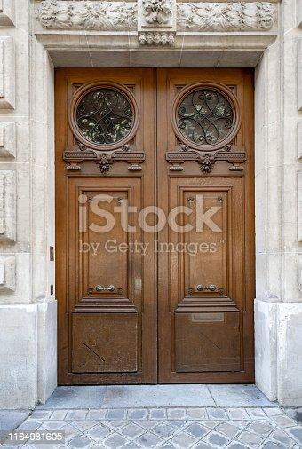 Architecture of Paris France. Antique building exterior.