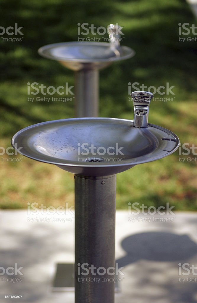 Double Drinking Fountains stock photo
