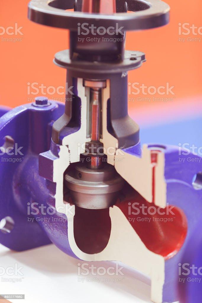 Double eccentric control valve stock photo