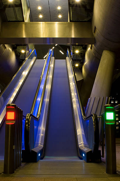 double escalator stock photo