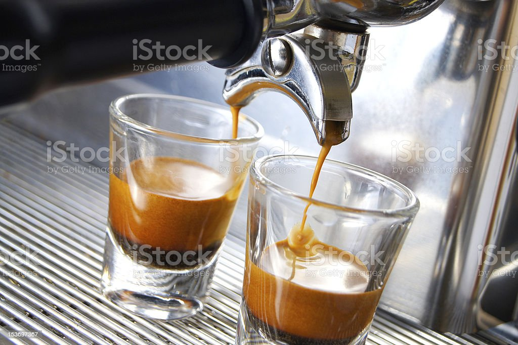 double espresso stock photo