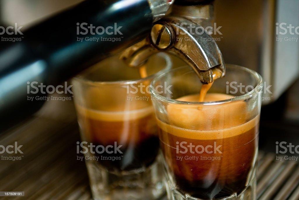 Double Espresso Shot stock photo