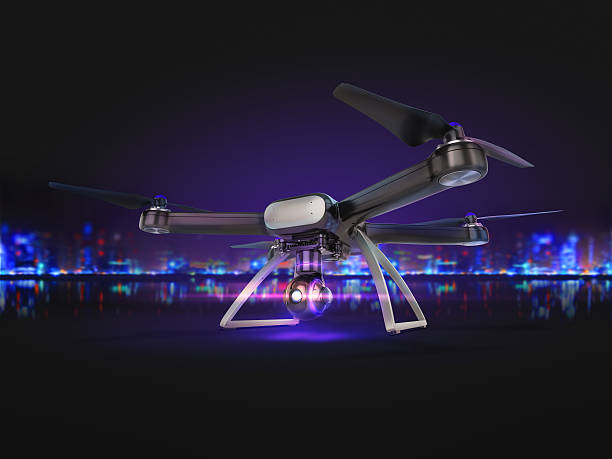 Double Exposure,   Air Drone Flying with action camera. – Foto