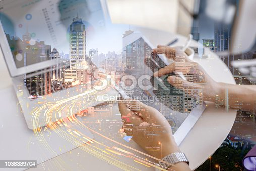 istock Double exposure business person 1038339704