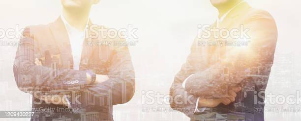 Double exposure effecttwo young businessman standing and thinking picture id1209430227?b=1&k=6&m=1209430227&s=612x612&h=qovxcq8sw5s34loq2t0ejrfqxhf bssq0irtegxk 5o=