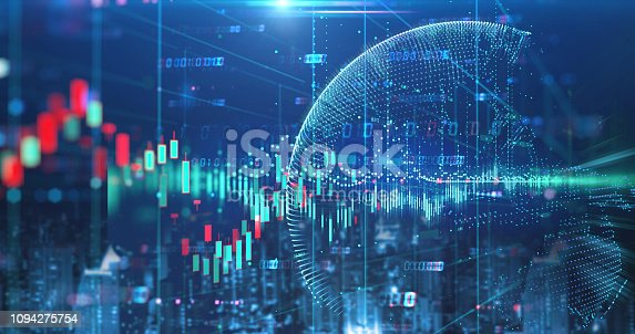 istock double exposure image of stock market investment graph and city skyline scene. 1094275754