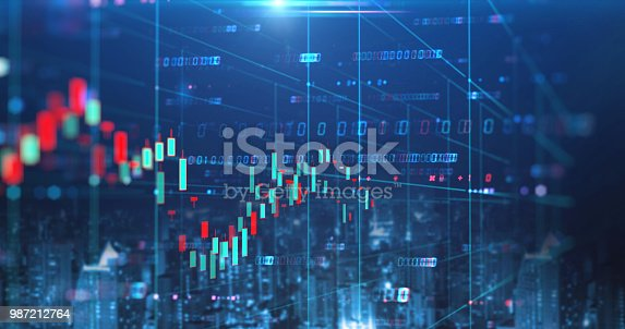 913603748 istock photo double exposure image of stock market investment graph and city skyline scene. 987212764