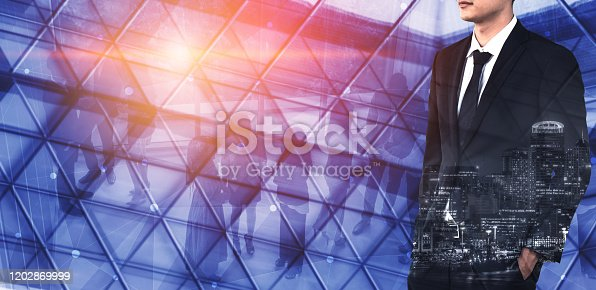 1079450712 istock photo Double Exposure Image of Success Business People 1202869999