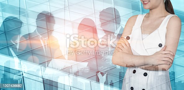 1079450712 istock photo Double Exposure Image of Success Business People 1207436682