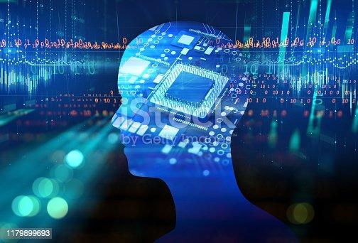 1054574018istockphoto double exposure image of virtual human 3d illustration 1179899693