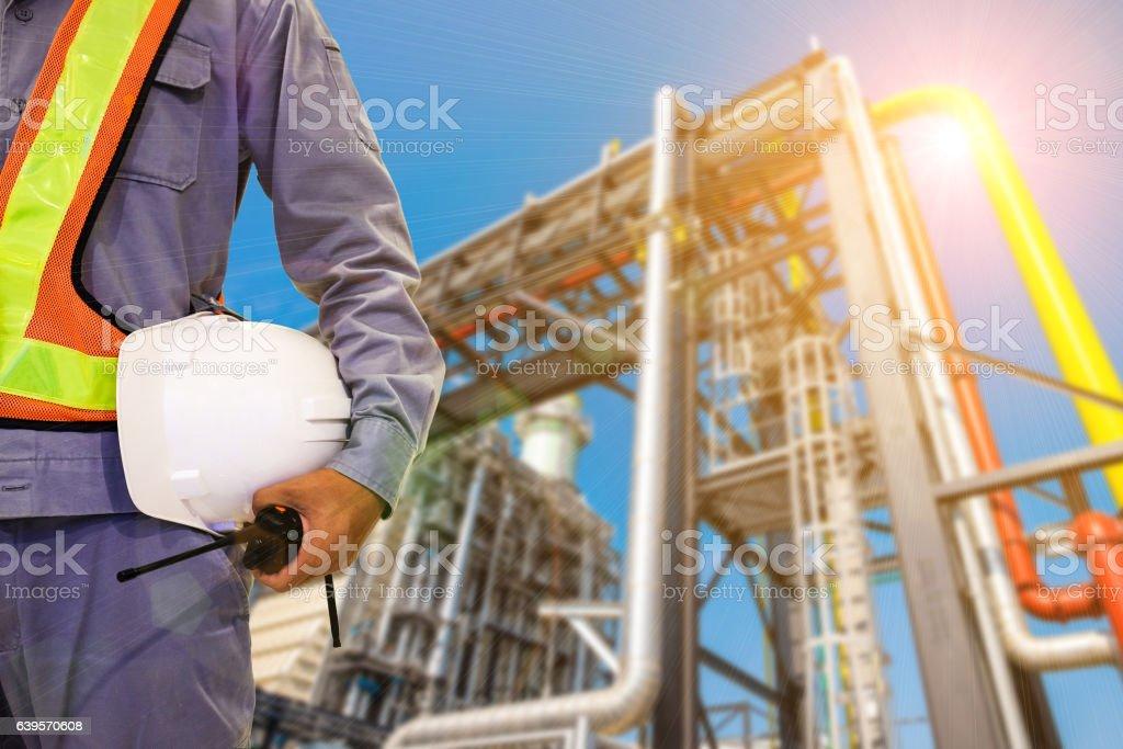 Double exposure mechanical engineer or civil engineer stock photo