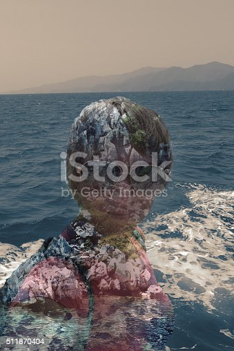 624717328istockphoto Double exposure of a girl travelling 511870404