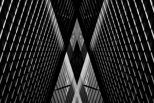 double exposure of louvered walls / pitched roof / ceiling - dachschräge einrichten stock-fotos und bilder