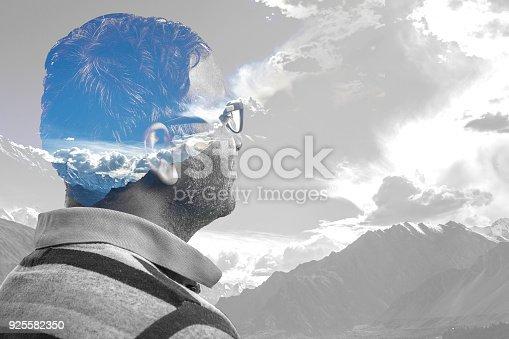istock Double Exposure of Man in nature 925582350