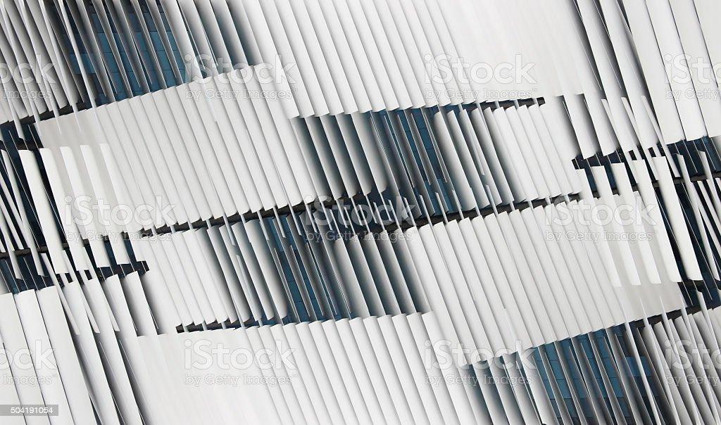 Double exposure photo of ajar jalousie / blinds on windows stock photo