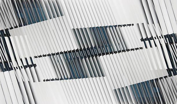 Fotos de la doble exposición entreabierto hotel jalousie/cortinas en windows - foto de stock
