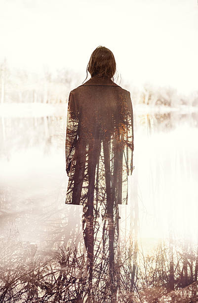 double exposure - root stock photos and pictures
