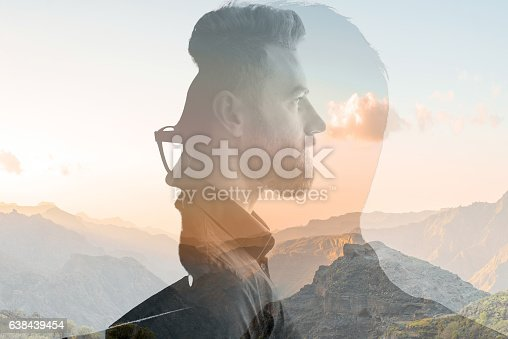 istock Double exposure portrait of a businessman 638439454
