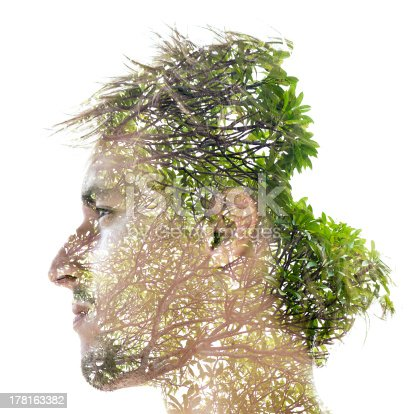 498089686 istock photo Double exposure portrait 178163382