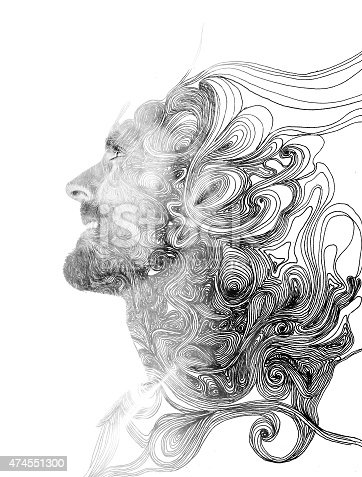 498089686 istock photo Double exposure portrait 474551300