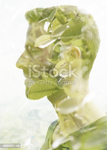 498089686 istock photo Double exposure portrait 486965148