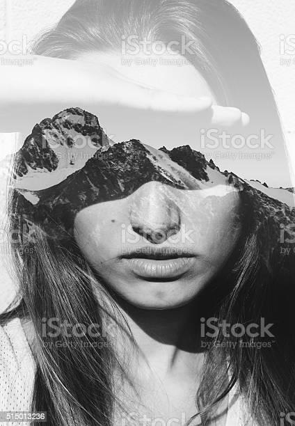 Photo of Double exposure portrait