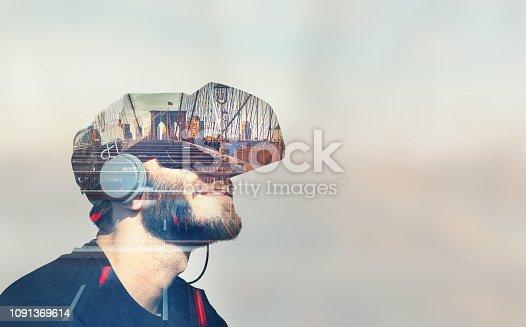 Double Exposure Virtual Reality Headset