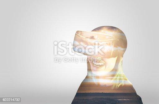 599693172istockphoto Double Exposure Virtual Reality 622214732