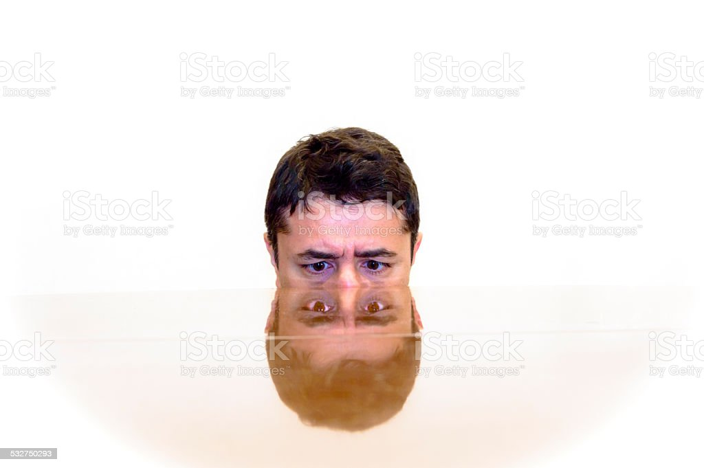 double face stock photo