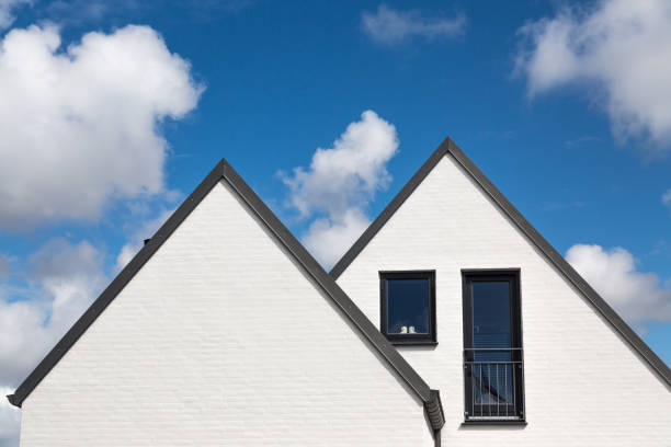 double gable stock photo
