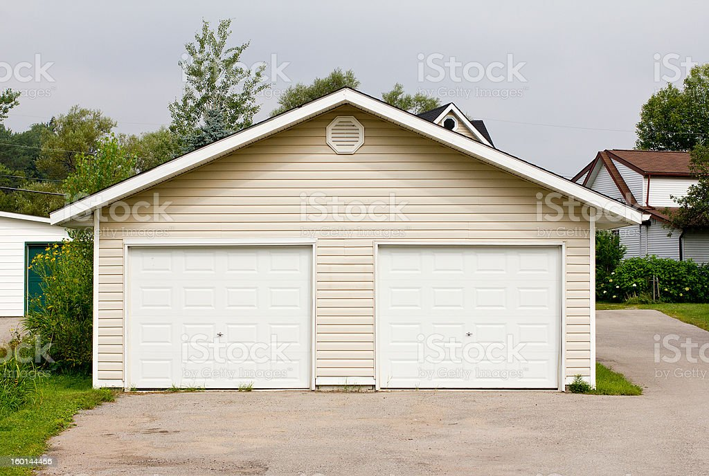 Double Garage stock photo