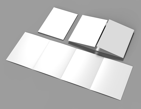 double gate fold brochure blank white template for mock up. Black Bedroom Furniture Sets. Home Design Ideas