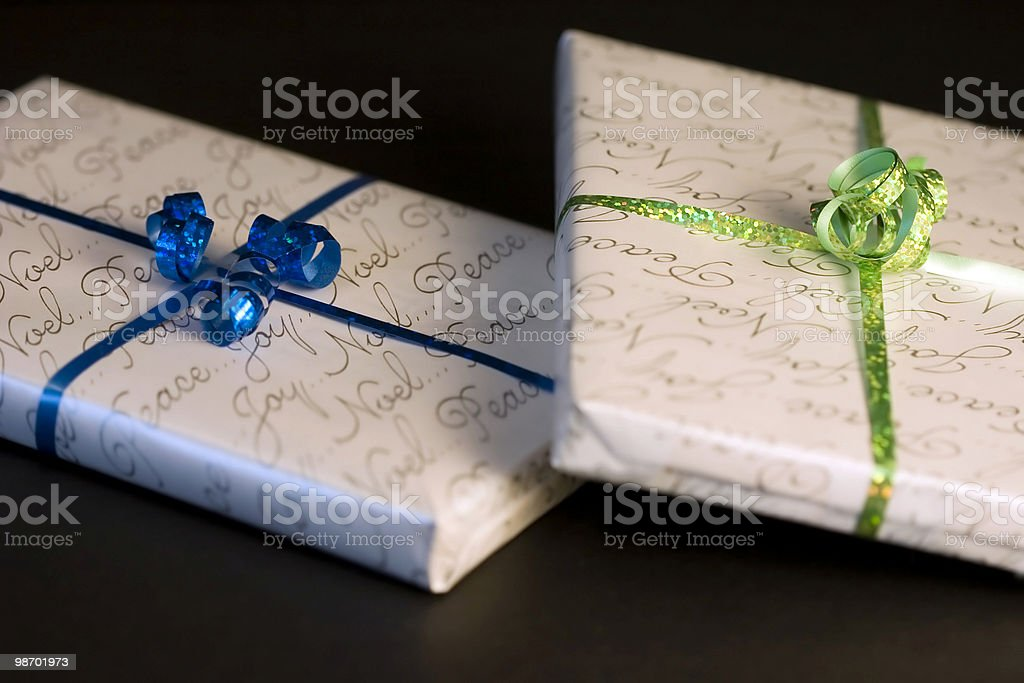 Double Gifts royalty-free stock photo