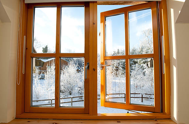 pick up 17f68 b439e Double Glazed Wooden Window Stock Photo - Download Image Now ...
