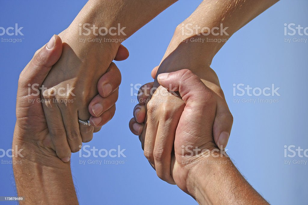 Double Handshakes royalty-free stock photo