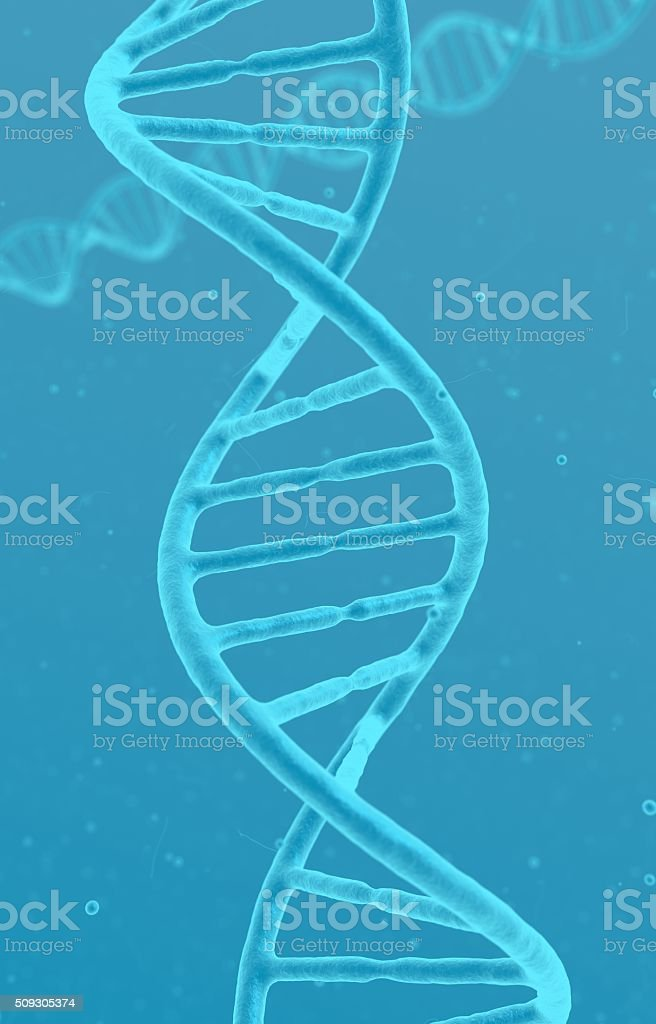 Double Helix Of Dna Visible Under Microscope Medical