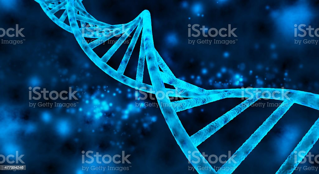 double helix of the DNA stock photo